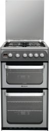 Hotpoint HUG52G 50cm Freestanding Gas Cooker in Graphite with FSD