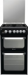 Hotpoint HUG52K 50cm Freestanding Gas Cooker in Black with FSD