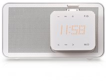LG ND1520 iPod Docking Speaker in White with Alarm Clock, FM Radio and Auto EQ Technology