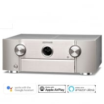 Marantz SR6014 9.2 Channel 4k Ultra HD AV Receiver with HEOS Built-in with Amazon Alexa and Google Assistant Silver