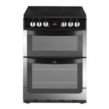 New World NW601EDOSS 60cm Wide Electric Double Oven Cooker in Stainless Steel