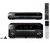 Yamaha RXA1040 7.2 Channel 4K AVENTAGE AV Receiver with WiFi in Black with Yamaha BDA1040 3D Blu-Ray Player with WiFi and Bluetooth in Black