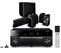 Yamaha RXA1040 7.2 Channel 4K AVENTAGE AV Receiver with WiFi in Black with Polk TL 1600 5.1 Speaker System In Black