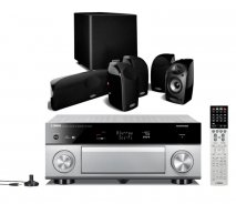 Yamaha RXA1040 7.2 Channel 4K AVENTAGE AV Receiver with WiFi in Titanium with Polk TL 1600 5.1 Speaker System In Black