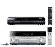 Yamaha RXA840 7.2 Channel 4K AVENTAGE AV Receiver Black with Yamaha BDA1040 3D Blu-Ray Player with WiFi and Bluetooth in Black, RXA840B-BDA1040B