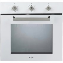 CDA SG120WH 60cm Gas Single Oven in White with Free 5Yr Parts, 2Yr Labour Guarante via Registration