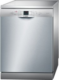 Bosch SMS53M08GB 60cm Freestanding Dishwasher in Silver with 13 Place Settings