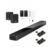 Bose Soundbar 700 with Surround Speakers and Wall Brackets in Black