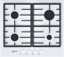 Neff T22S36W0 60cm Gas Hob in White with Cast Iron Pan Supports
