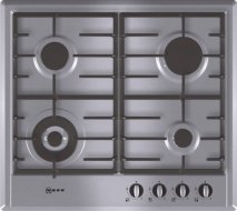 Neff T22S46N0 Series 2 60cm Gas Hob in Stainless Steel with Cast Iron Pan Supports
