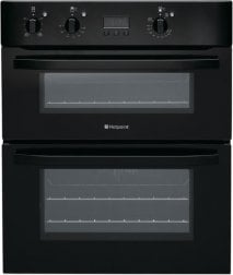 Hotpoint UH53KS 60cm Wide Built Under Electric Double Oven in Black