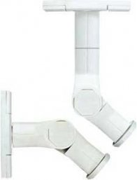 Sanus WMS3 Tilt and Swivel Mounts in White for Wall or Ceiling Speakers (Pair)