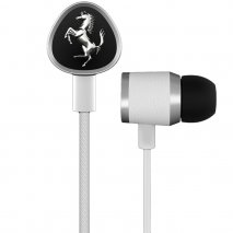 Ferrari CAVALLINO G150i Earphones in white - 3 button Remote 1LFE012W