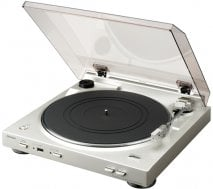 Denon DP200 USB Turntable with MP3 Decoder in Silver