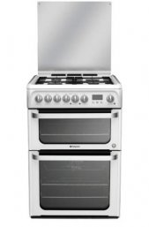 Hotpoint HUD61PS 60cm Freestanding Dual Fuel Cooker Polar White
