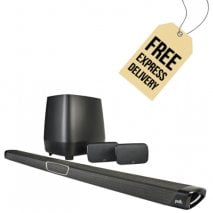 Polk MagniFi MAX SR 5.1 Home Theater Sound Bar and Wireless Rear Surround Sound System