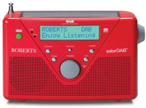 Roberts radio SolarDAB 2 DAB/FM RDS digital solar radio in Red