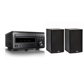 Enlarge Denon RCDM41DAB Micro Hi Fi CD Receiver With Polk T15 Bookshelf Speaker