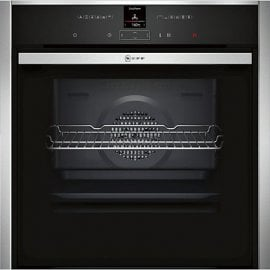 Neff B57CR22N0B Pyrolytic Slide and Hide Single Electric Oven Stainless Steel