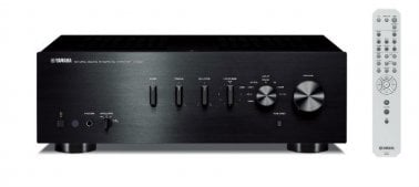 Yamaha AS301B Integrated Amplifier in Black front