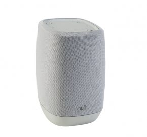 Polk Assist Smart Speaker with the Google Assistant Built-In in Grey