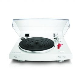 Audio Technica AT-LP3WH Advanced Fully Automatic Belt-Drive Stereo Turntable in White