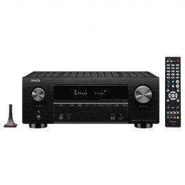 Denon AVRX3500H AV Receiver 3 Year Warranty with Focal Dome Flax 5.1.2 Home Cinema System in Black