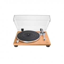 Audio Technica ATLPW30TK Fully Manual Belt-Drive Wood Base Turntable Front View