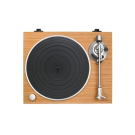 Audio Technica ATLPW30TK Fully Manual Belt-Drive Wood Base Turntable Top View