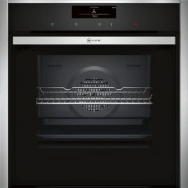 Neff B58CT68N0B Slide and Hide Electric Single Oven in Stainless Steel