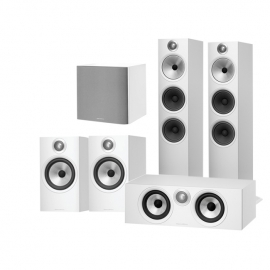 Bowers & Wilkins 603 AV 5.1 Speaker Package with 606 Speakers, HTM6 Centre and ASW608 Subwoofer White
