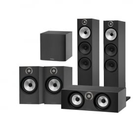 Bowers & Wilkins 603 AV 5.1 Speaker Package with 607 Speakers, HTM6 Centre and ASW608 Subwoofer Black