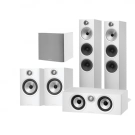 Bowers & Wilkins 603 AV 5.1 Speaker Package with 607 Speakers, HTM6 Centre and ASW608 Subwoofer White