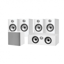Bowers & Wilkins 607 5.1 AV Speaker Package with HTM6 Centre and ASW608 Sub White