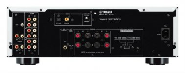 Yamaha AS701B Integrated Amplifier in Black back