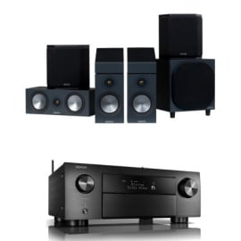 Denon AVCX4700H 9.2ch 8K AV Receiver with Monitor Audio Bronze 50 AV 5.1.2 Dolby Atmos Speaker Package Black