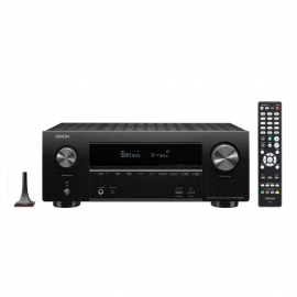 Denon AVRX2600H 7.2ch 4K Ultra HD AV Receiver with 3D Audio and HEOS Built-in Front View