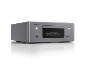 Denon CEOLN10 HiFi Network CD Receiver with HEOS and pair of SCN10GYEM Speakers in Grey