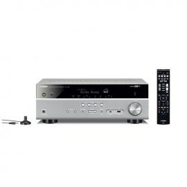 Yamaha MusicCast RXV585 7.2 Channel AV Receiver in Titanium