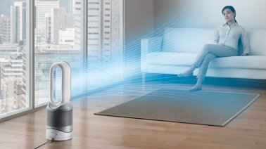 Dyson HP02 Pure Hot + Cool Link Air Purifer in White and Silver
