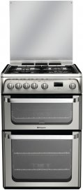 Hotpoint HUG61X 60cm Freestanding Gas Cooker in Stainless Steel with FSD