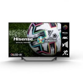 Hisense 65A7GQTUK 65 inch QLED 4K UHD HDR Smart TV with HDR10+ Dolby Vision Dolby Atmos and Alexa and Google Assistant 2021