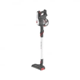 Hoover HF122GH Cordless Stick Handheld Vacuum Cleaner Titanium Red - Angled