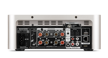 Marantz Melody X MCR612 Hifi Network System in Silver Gold Connections