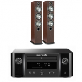 Marantz Melody X MCR612 HiFi Network System Black with Monitor Audio Bronze 6 Speakers Rosemah