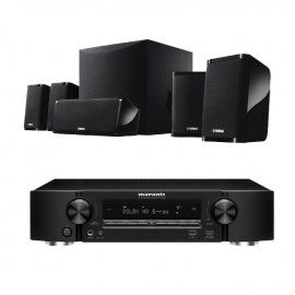 Marantz NR1509 Black 5.2 Channel AV Receiver Warranty with NSP41 5.1 Speaker package in Black