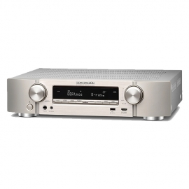 Marantz NR1609 Slim 7.2 Channel Surround Sound Dolby Atmos AV Receiver with HEOS Silver Gold