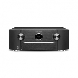 Marantz SR6013 Black AV Receiver with Monitor Audio Bronze 5 AV 5.1 Speaker package Walnut