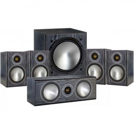 Monitor Audio Bronze 1 AV 5.1 Speaker package Black Oak
