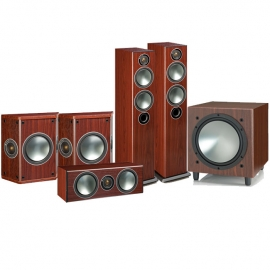 Denon AVRX2500H AV Receiver with Monitor Audio Bronze 5 AV 5.1 Speaker package Rosemah